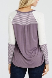 Oddi Striped Heart Top - Side cropped