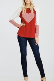 Oddi Striped Heart Top - Front cropped