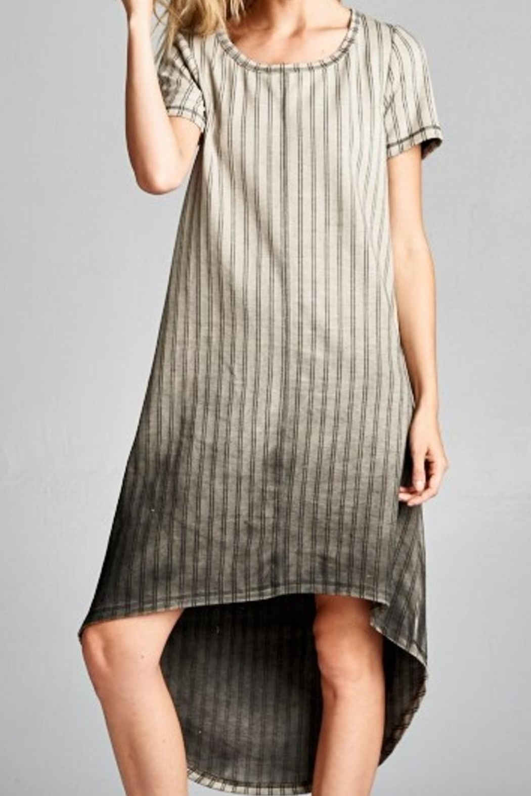 Oddi Striped Ombre Dress - Front Cropped Image