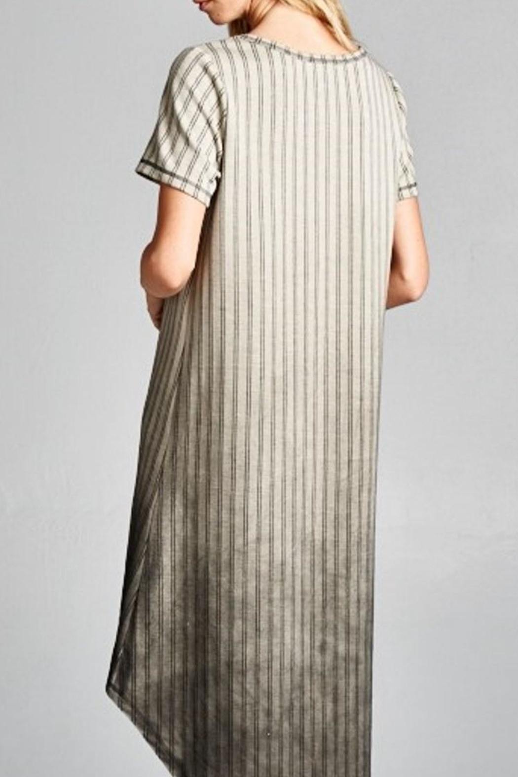 Oddi Striped Ombre Dress - Side Cropped Image
