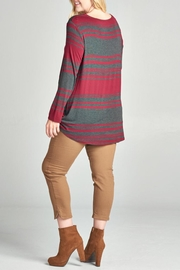 Oddi Striped Twist Top - Front full body