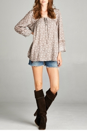 Oddi Taupe Blouse - Front cropped