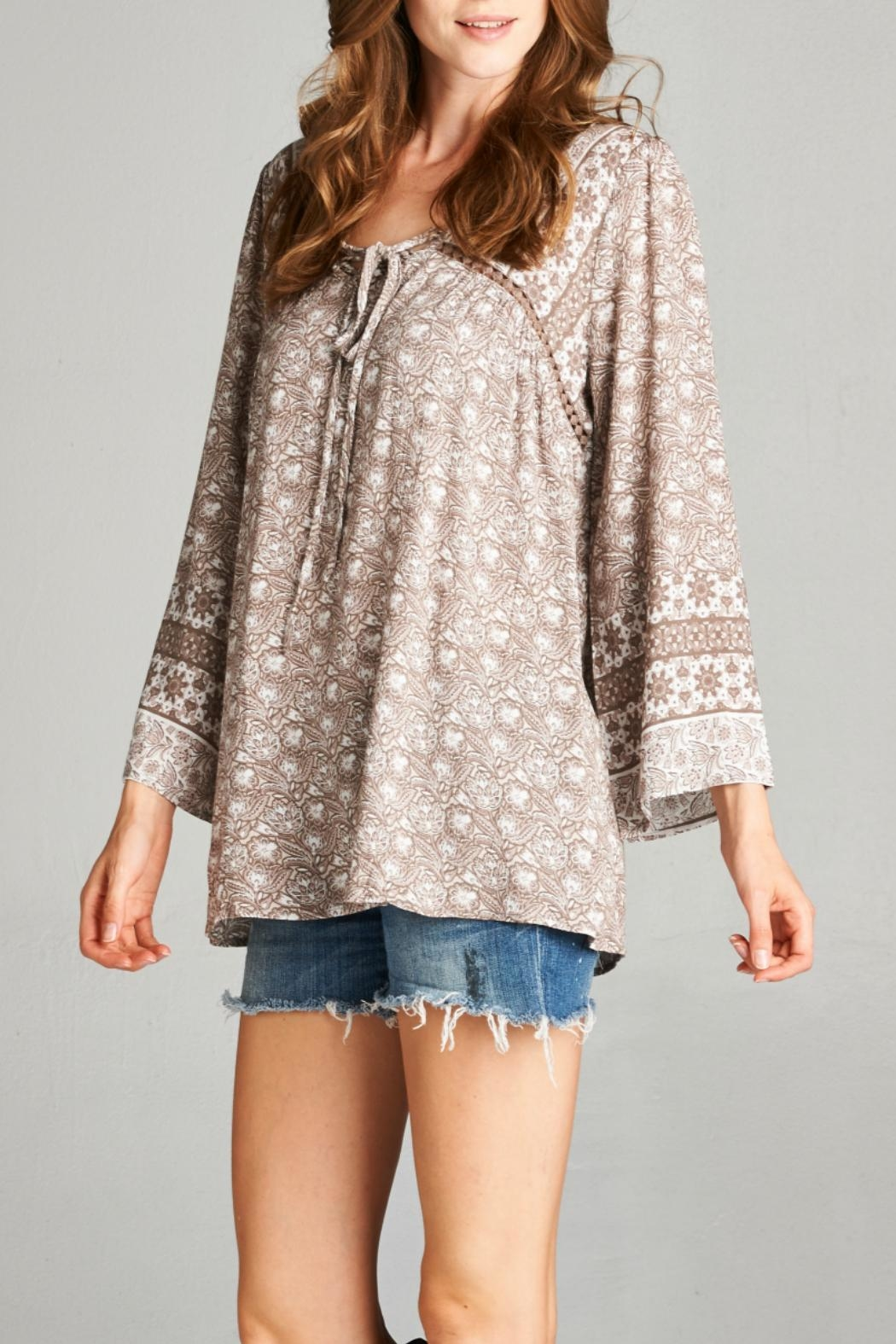 Oddi Taupe Blouse - Front Full Image