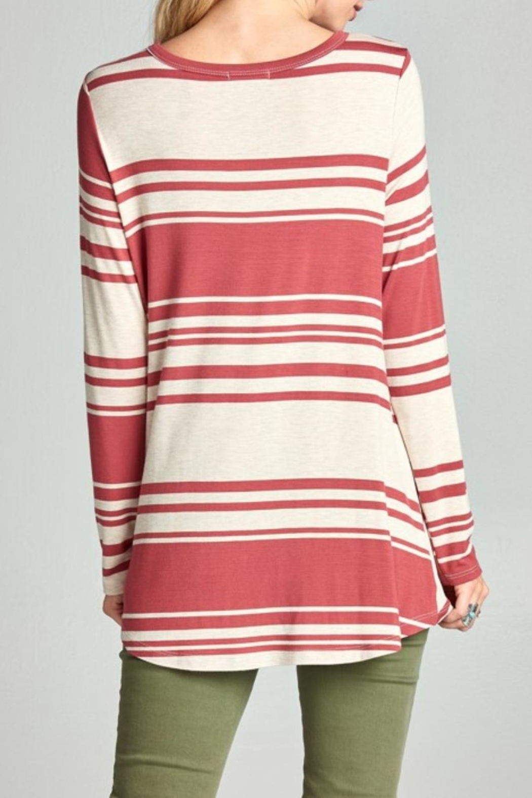 Oddi Twisted Striped Top - Front Full Image