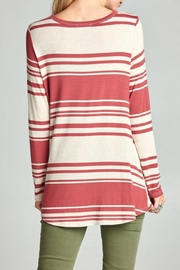 Oddi Twisted Striped Top - Front full body