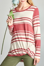 Oddi Twisted Striped Top - Product Mini Image