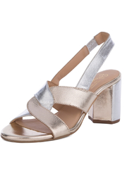Seychelles Odds and Ends Metallic Heeled Sandals - Product Mini Image