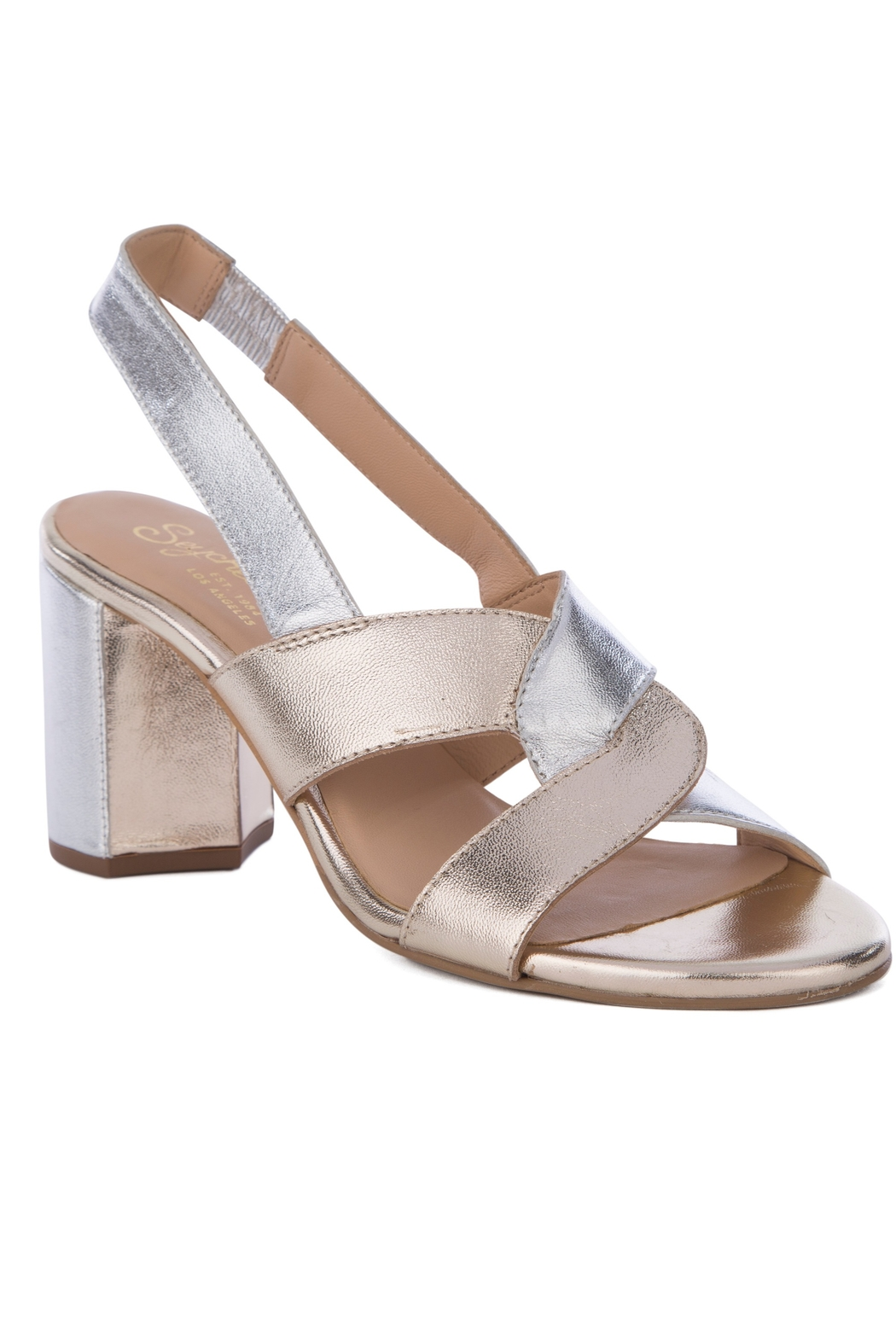 Seychelles Odds and Ends Metallic Heeled Sandals - Front Cropped Image