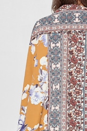 Oddy Floral Scarf Printed Woven Kimono - Other