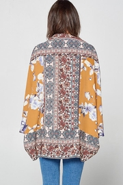 Oddy Floral Scarf Printed Woven Kimono - Front full body
