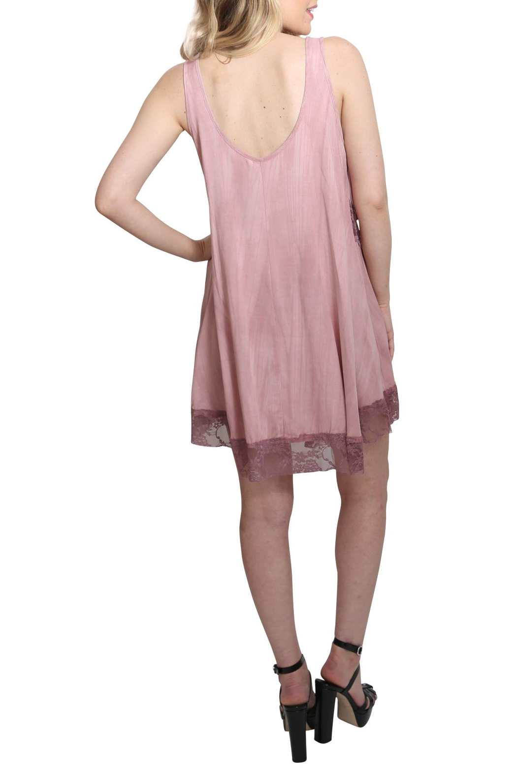 Oddy Peek-a-boo Dress - Side Cropped Image
