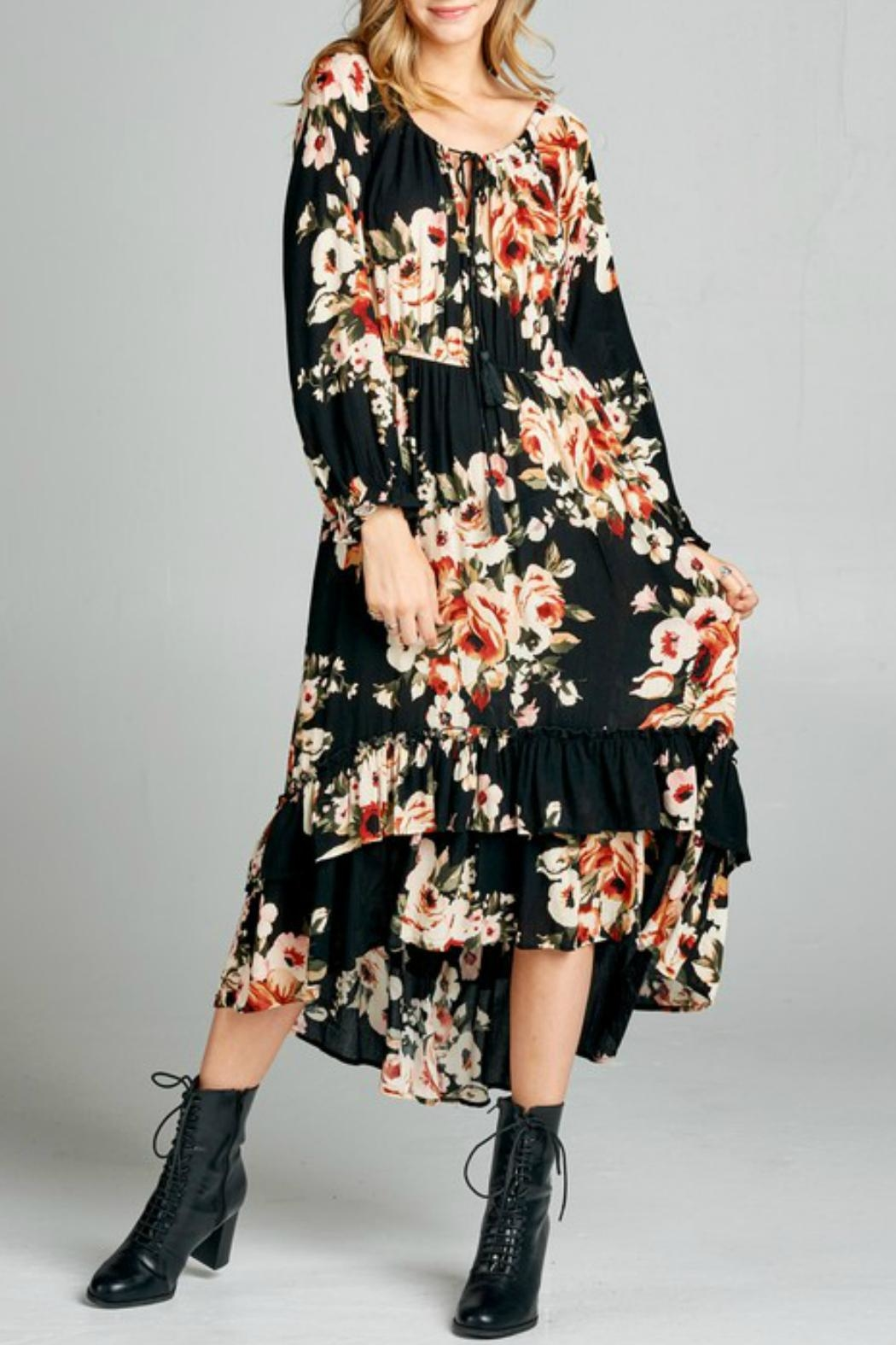 Oddy Tiered Floral Dress - Main Image