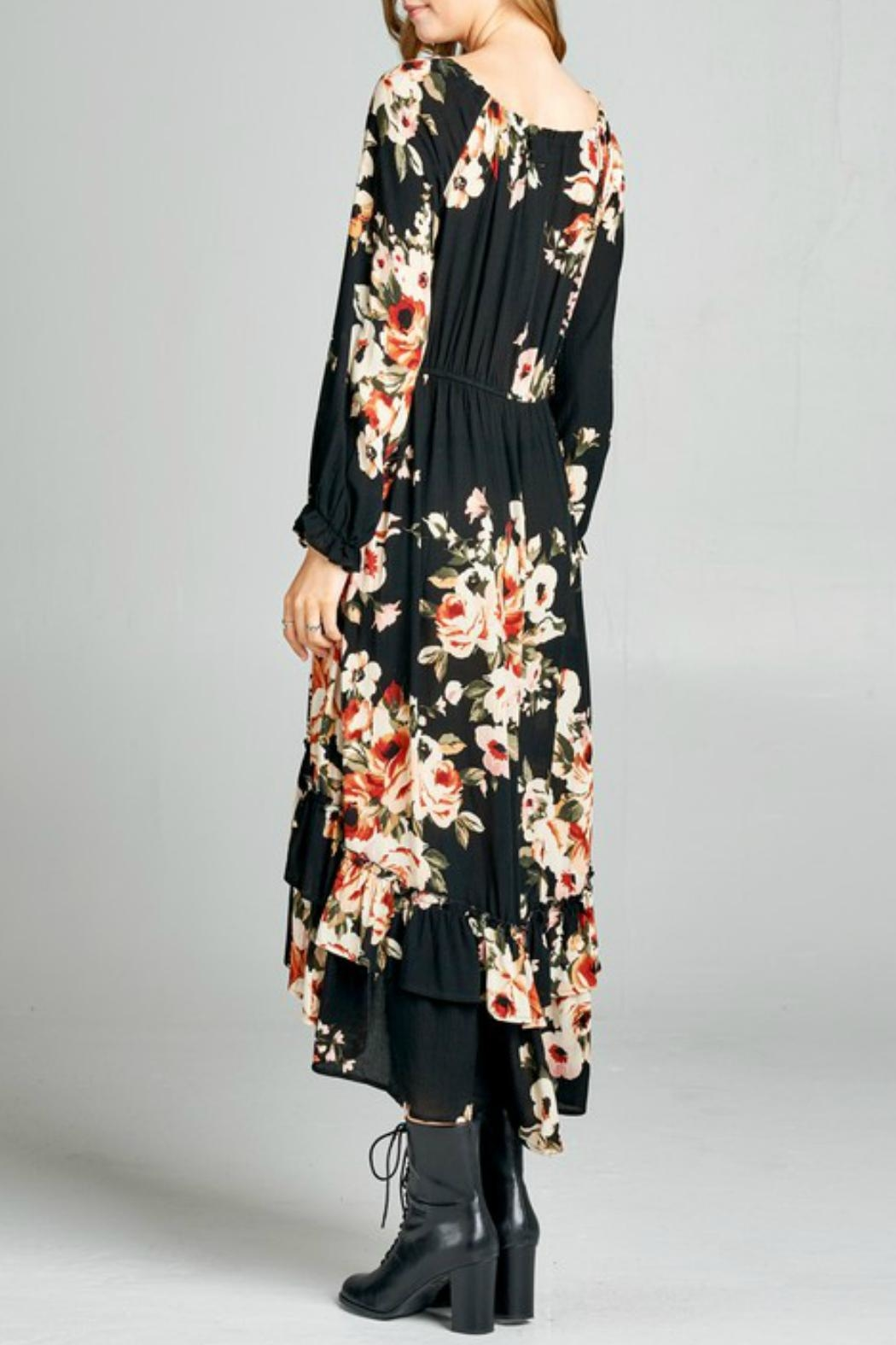 Oddy Tiered Floral Dress - Front Full Image
