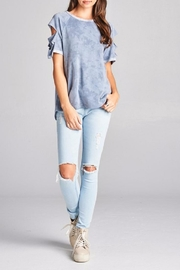 Oddy Vintage Blue Top - Front cropped