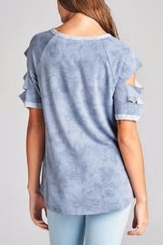 Oddy Vintage Blue Top - Front full body