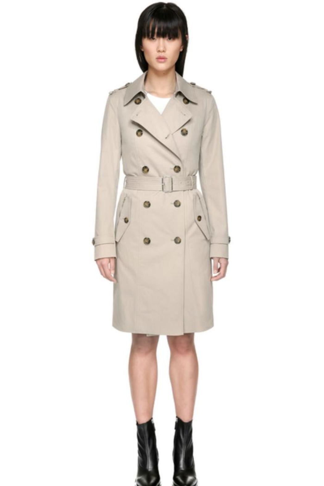 Mackage Odel Trench Coat - Front Cropped Image