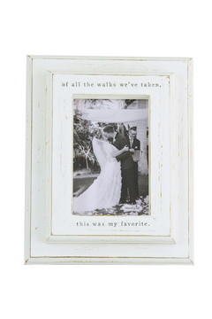 Mud Pie  Of All The Walks Frame - Product List Image