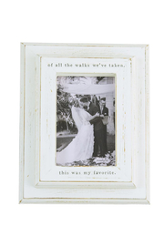 Mud Pie  Of All The Walks Frame - Product Mini Image