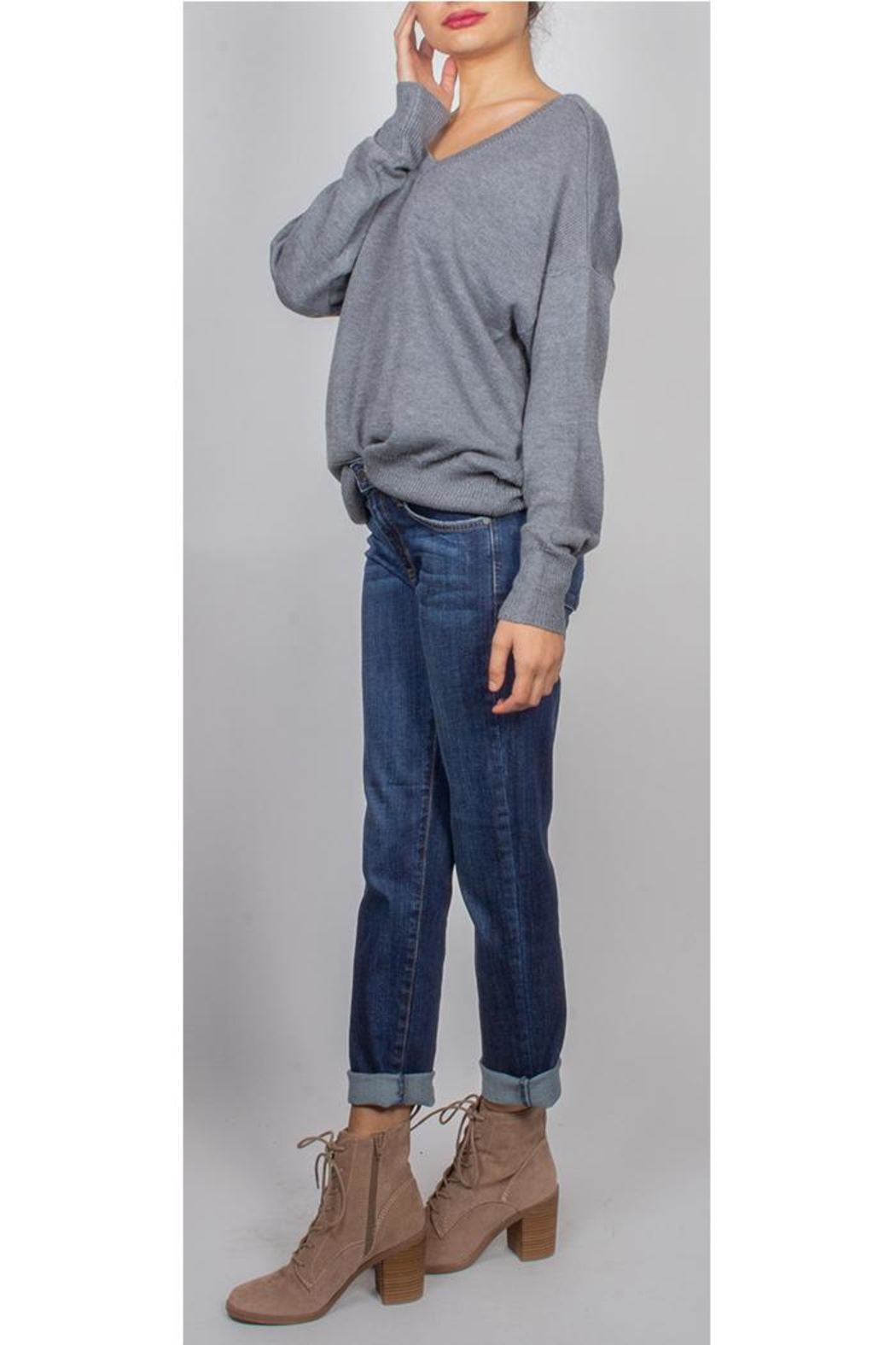 279a46335b Audrey 3+1 Off Duty Knit-Sweater from Los Angeles by Goldie s ...