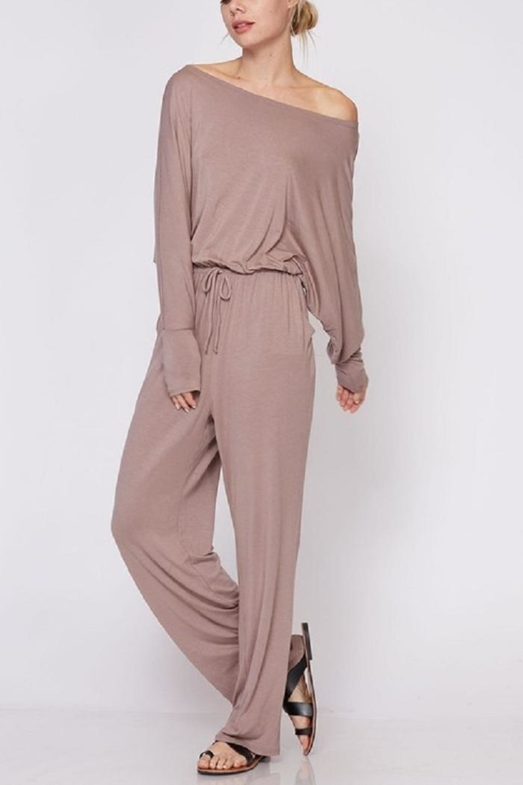 Fantastic Fawn Off & On Jumpsuit - Back Cropped Image