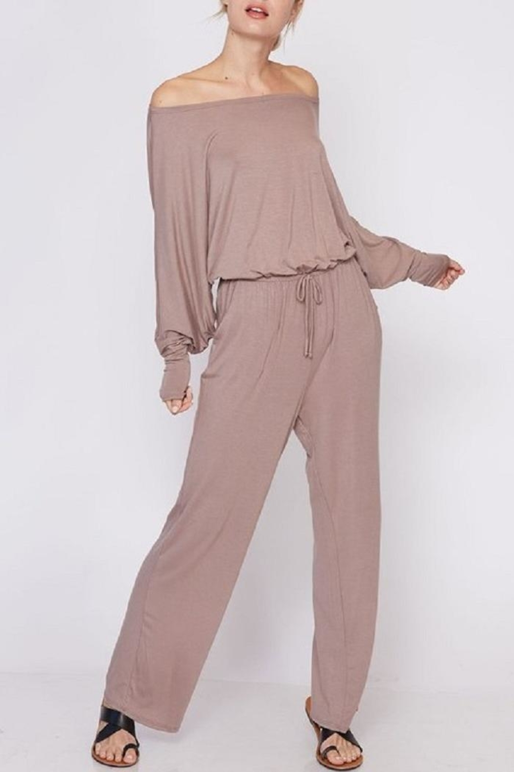 Fantastic Fawn Off & On Jumpsuit - Front Full Image
