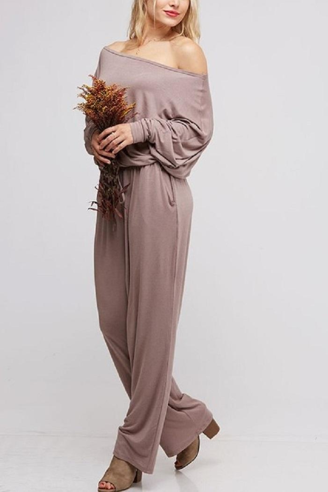 Fantastic Fawn Off & On Jumpsuit - Side Cropped Image