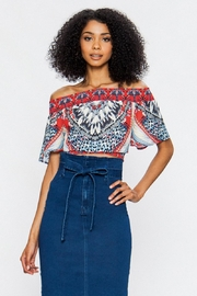 Jealous Tomato Off Shoulder Blouse - Front cropped