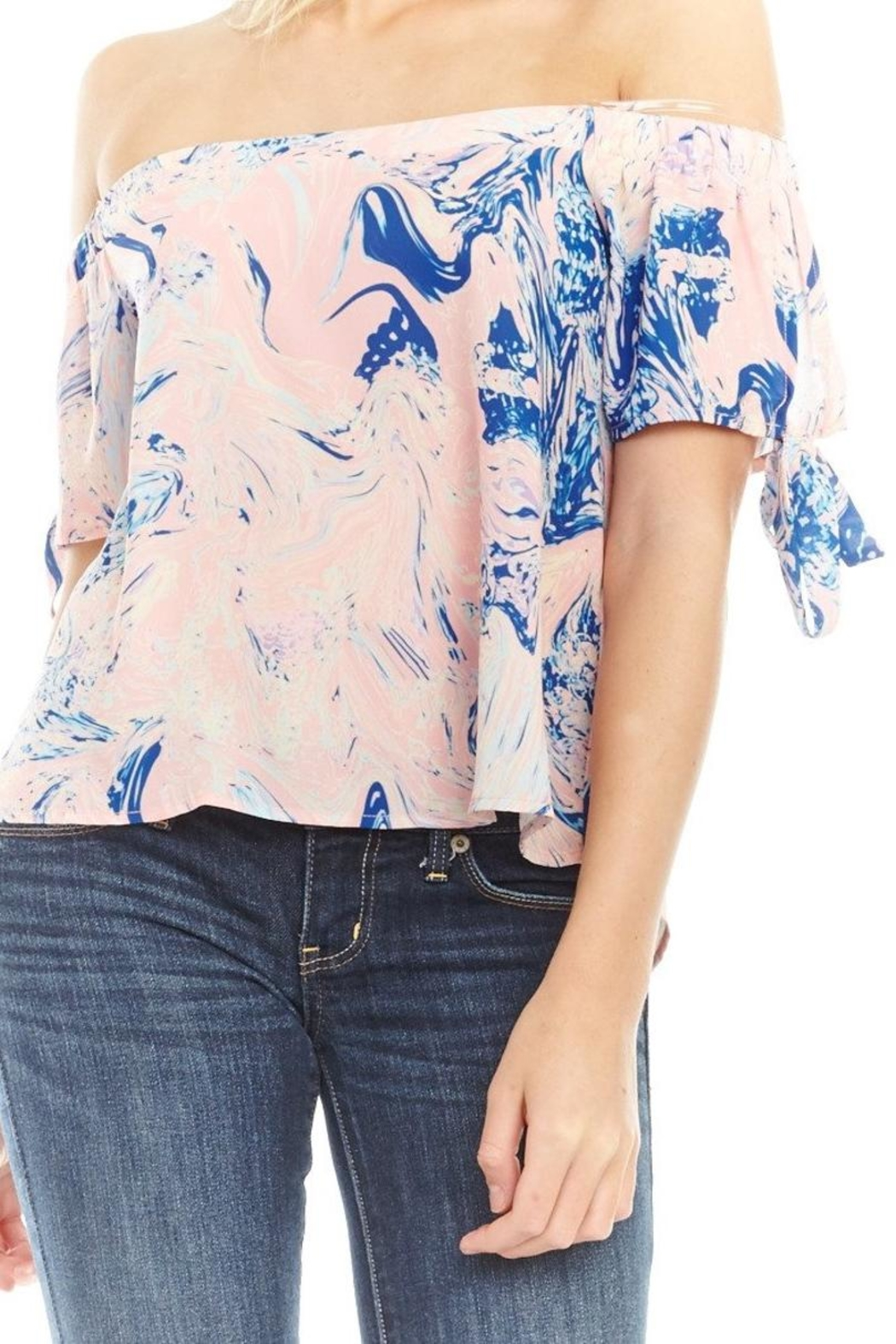 Mary & Mabel Off Shoulder Blouse - Side Cropped Image