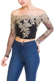 The Sang Off Shoulder Blouse - Product Mini Image