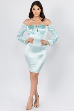 funky  OFF SHOULDER BODYCON DRESS - Product List Image