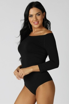 Nikibiki Off Shoulder Bodysuit, Black - Product List Image