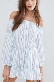 Faithfull The Brand Off-Shoulder Boho Mini Dress - Product Mini Image