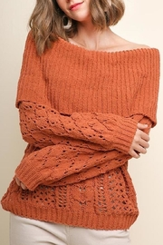 Umgee Off-Shoulder Chenille Sweater - Product Mini Image