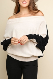Umgee USA Off Shoulder Colorblock - Product Mini Image