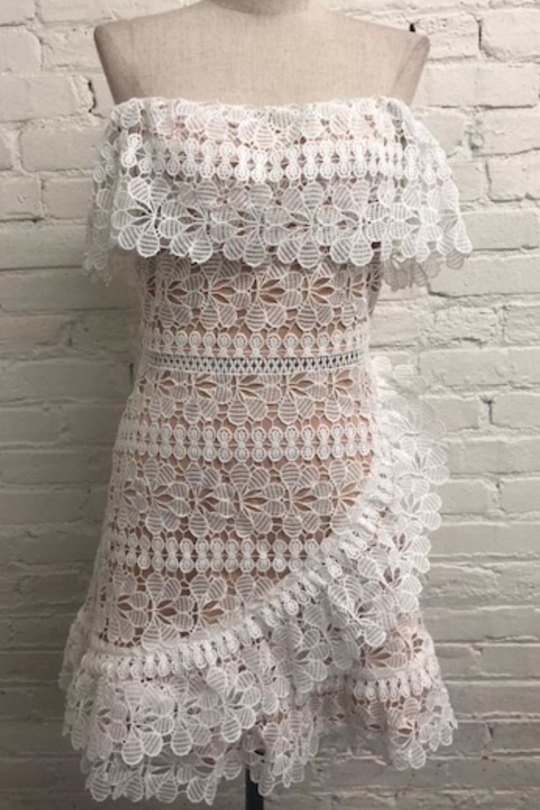 Just Me Off Shoulder Crochet Dress From Los Angeles By Chikas