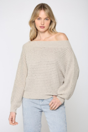 Fate Inc. Off Shoulder Dolman Sleeve Sweater - Product Mini Image
