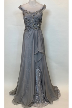 Mac Duggal OFF SHOULDER DRAPY GOWN - Product List Image