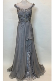 Mac Duggal OFF SHOULDER DRAPY GOWN - Product Mini Image
