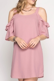 She + Sky Off Shoulder Dress - Product Mini Image
