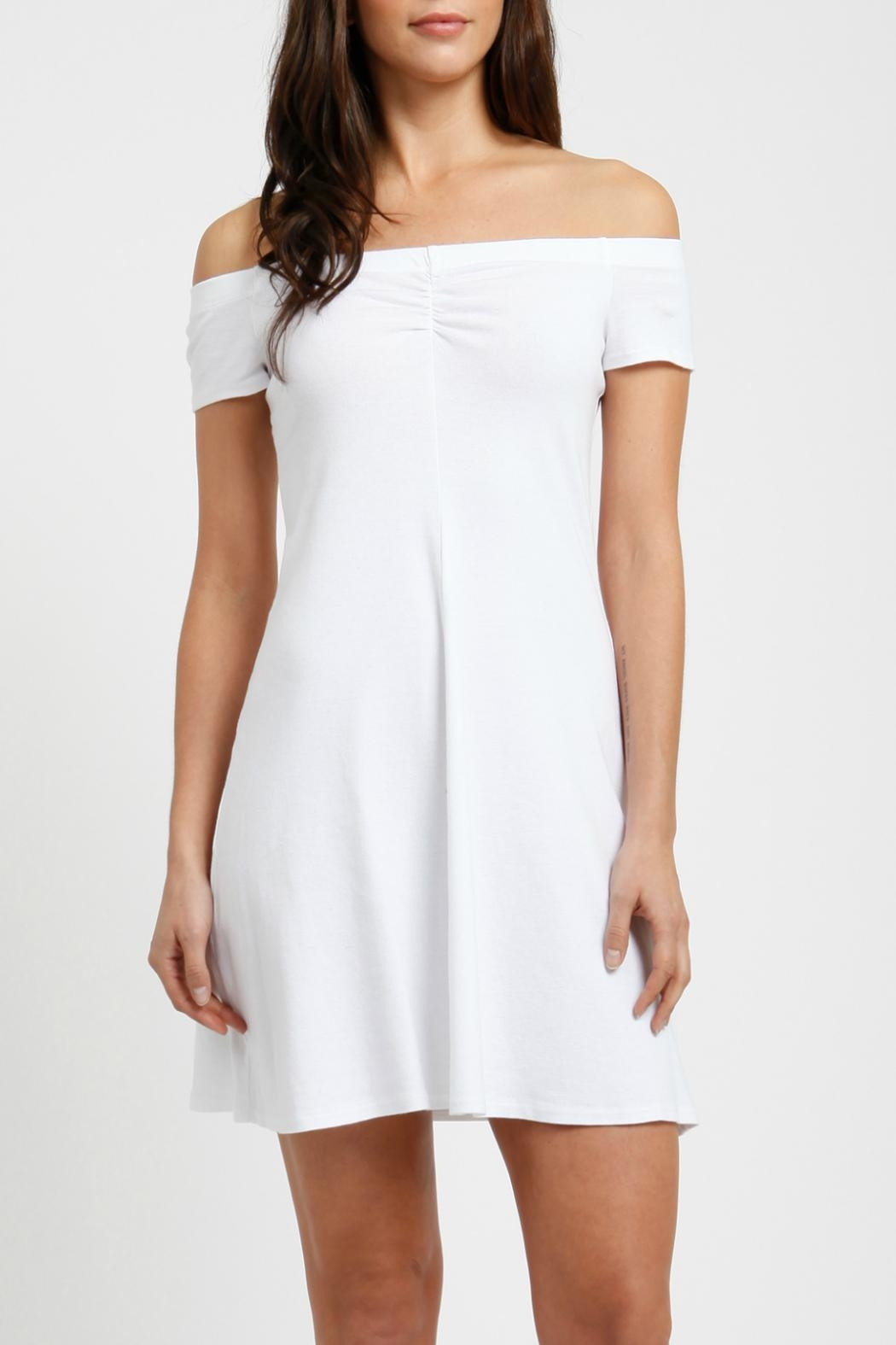 Three Dots Off Shoulder Dress - Front Cropped Image
