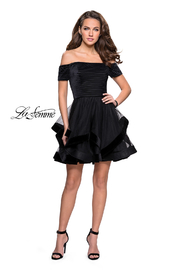La Femme Off Shoulder Dress - Product Mini Image