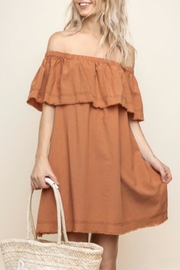 Umgee Off Shoulder Dress - Product Mini Image