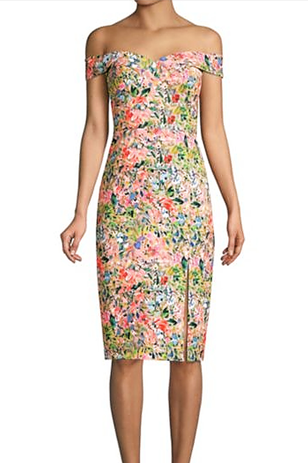 Aidan by Aidan Mattox Off Shoulder Dress - Side Cropped Image