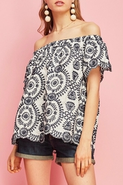 Entro Off-Shoulder Embroiderd Top - Product Mini Image