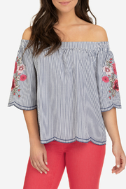 Tribal Off shoulder embroidered blouse - Product Mini Image