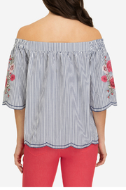 Tribal Off shoulder embroidered blouse - Side cropped