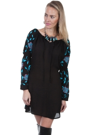 Scully Off-Shoulder Embroidered Dress - Product Mini Image