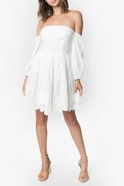 Sugarlips Off-Shoulder Embroidered-Edge Dress - Product Mini Image