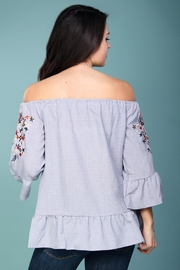 Listicle Off-Shoulder Embroidered Top - Other