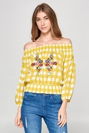 Ellison Off-Shoulder Embroidered Top - Product Mini Image